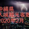 沖縄県 入域観光客数 2020年2月!どの程度減ったのかを検証!