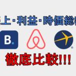 Airbnb・Booking.com・Expediaの売上高・株価を徹底比較!!財務諸表から見える、最も支持されるOTAとは!!
